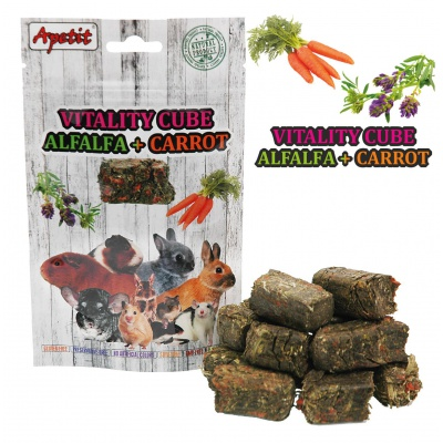 Apetit - VITALITY CUBE, PRESSED ALFALFA with CARROT 150g