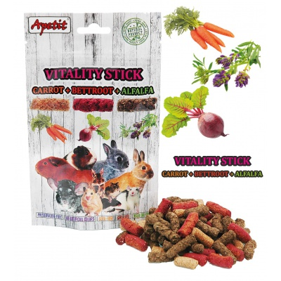 Apetit - VITALITY STICKS with CARROT, BETTROOT AND ALFALFA 120g